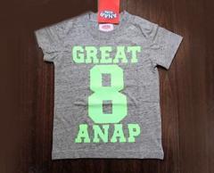 新品ANAPKIDS☆ネオンカラー ロゴTシャツ90 グレー アナップキッズ
