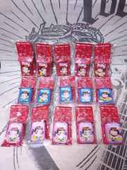 新品【不二家ミルキーペコ缶キーホルダー赤青ピンク15種コンプセット /ペコちゃん