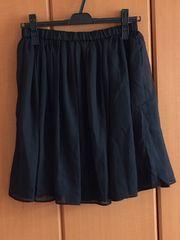 GRL グレイル シフォン スカート 黒 ブラック M