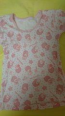 即決☆120�aキキララのピンクの半袖シャツ
