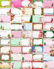 45◎K-クリスマス◎種類豊富★宛名シールセット*45種45枚♪