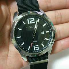電池交換済み!police ポリス メンズ腕時計 男性用 稼働品