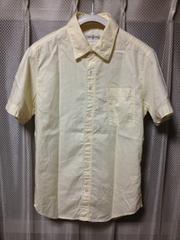 CHLORO クロロ 無地 半袖シャツ Sサイズ36 アイボリー 白 ベージュ 日本製 細身