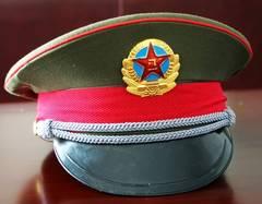 実物官給品 未使用 中国人民解放軍87式制帽 将校帽