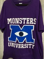 モンスターズインクTシャツモンスターズユニバーシティ紫パープル