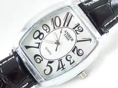 7943/AMBERTIMEアラビア数字インディックスビックフェイスメンズ腕時計