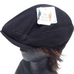大きいサイズ♪サーマル ハンチング*ブラック*帽子*