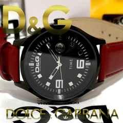極美品【箱・真贋証明】1スタ ドルガバ/D&G 大型 メンズ腕時計