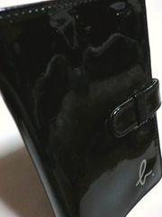 アニエスベー/agnes b. エナメル加工手帳カバー(黒)