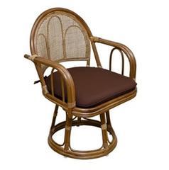 ラタン 回転座椅子 ハイタイプ IM-15BR ブラウン