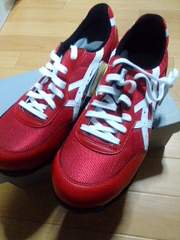 送料込☆アシックス安全靴【新作32赤】25cm