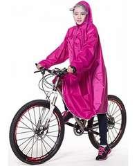 レインコート 自転車 バイク ロング ポンチョ 男女兼用 ローズ
