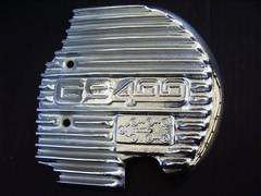 (611)GS400GS400LGS400E用メッキフィン付きスプロケカバー