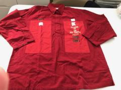 ピンクハウス★カールヘルム…コットンシャツ★赤