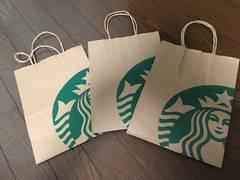 新品未使用スターバックス紙袋3枚セットまとめショップ袋
