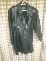 ★DAIYA牛革 コート ブラック 大きめサイズ レザー★
