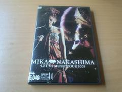 中島美嘉DVD「MIKA NAKASHIMA LET'S MUSIC TOUR 2005」ライブ●