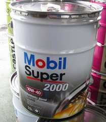 ☆ Mobil Super 2000. 10W-40.API:SN/CF.A3/B4.部分合成油。20L.
