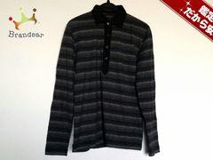 ポールスミス 長袖ポロシャツ M メンズ 黒×白×グレー ボーダー