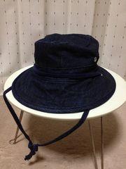 ブルーブルー デニム サファリハット 帽子 Sサイズ1 紺 インディゴ ハリウッドランチマーケット