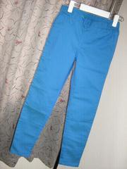 きれい目ブルーのパンツ250g*家井0321送料¥400