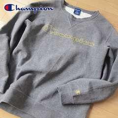 超美品 L チャンピオン メンズ スウェット/トレーナー グレー