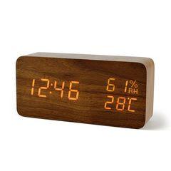 激安商品♪デジタル 置き時計 LED 目覚し時計 大音量 木製