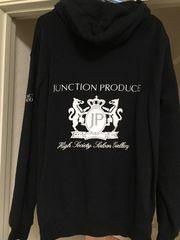 ジャンクションプロデュース刺繍パーカ XL 限定 ブラック JP黒