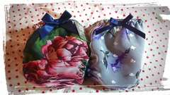 フルバック ショーツL パンティー2枚セット ネイビー系 flower
