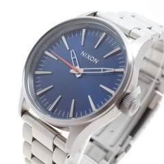 ニクソン 腕時計 メンズ A4501258 クォーツ ネイビー シルバー