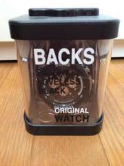 109 BACKS バックス 腕時計 ウォッチ 黒 ブラック