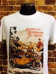 表記L/新品!ハーレー バイク バイカー Tシャツ 白 アメカジ ビンテージスタイル 57