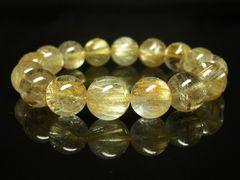 極上天然石 タイチンルチル12mmブレスレット 最強金運数珠
