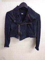 LGBルグランブルー コーティングミニライダースジャケット
