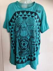 中古アジアン雑貨屋購入*使用感ありありTシャツゆったり大きいサイズ