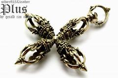 送料無料!真鍮製 金剛杵ペンダント(ブラス、密教法具、五鈷杵