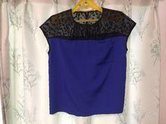 美品ライトオンバイカラーシースルーカットソートップス半袖