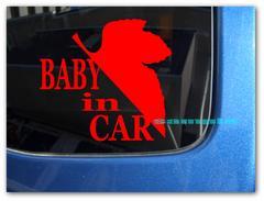 evc_BABY IN CAR NERV風ステッカーエヴァンゲリオンM 赤ちゃん