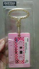 新品★カセットテープ型キーホルダータイプICカードケース¥1000