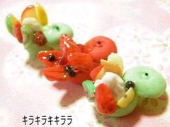 デコ*ケーキ<樹脂粘土>りんごカップケーキ3個セット