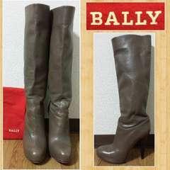 購入13万 BALLY バリー ロングブーツ イタリア製 本革 EDWINA US6 EU36.5
