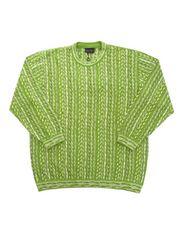 LA輸入ヴィンテージ新品COOGI風デザインセーターグリーン2XL