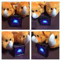 信工房 薄型 ミニGOGO!ランプ LED発光! カーアクセサリーに!