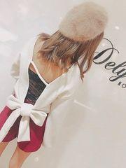 ★Delyle★バックオープンリボントップス★