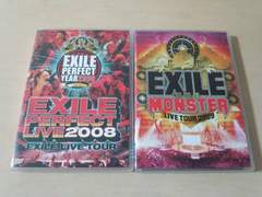 EXILE DVD2枚セット★「PERFECT LIVE 2008」「2009 THE MONSTER