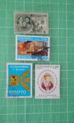 コロンビア切手4種類♪