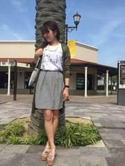 スピックアンドスパン*spick and span★ボーダータックスカート(38)/新品