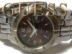 良品 1スタ★ゲス/GUESS【ダイバーズ】メンズ腕時計