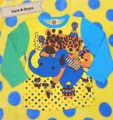 中古美品【ミルモコデモコMILDEBERRY】100cmキリンゴモコマルヒョウタロングTシャツ男女