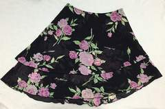 ディアマンテ☆ぼかし薔薇柄スカート☆黒